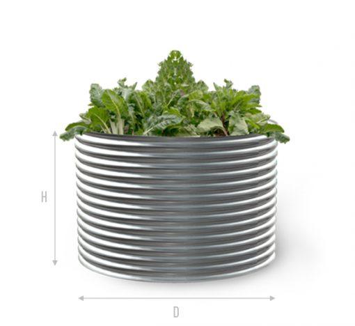 Kingspan metal garden bed round