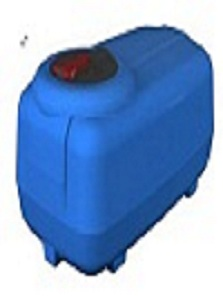 Kingston Water Tanks Global 300L Cartage Low Profile Tank