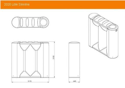 Kingston Water Tanks Melro 2020L Underdeck Tank Specs
