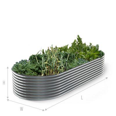 Kingspan metal garden bed slimline B